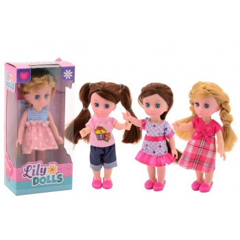 Lily dolls (4assort) 15cm